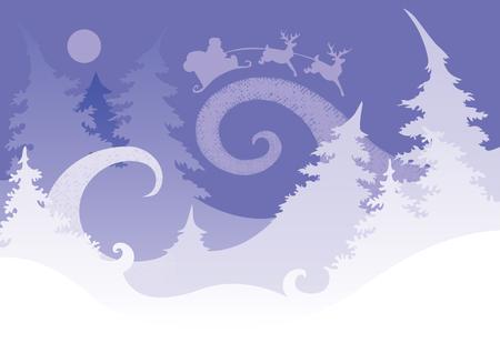 night before christmas: Image magic night before Christmas, which is heading to a congratulatory letter Illustration