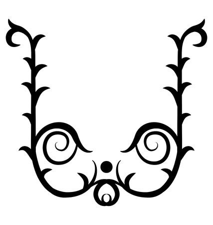 elegance: Graphic elements - Elegance floral vignette for your design.