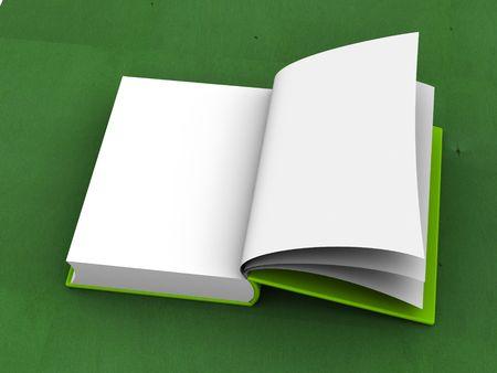 Libro aperto. 3d.