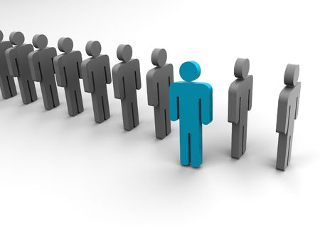 Silhouette of the person. 3d Stock Photo - 901810