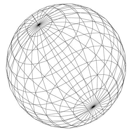 geosphere: planet symbol.   Vector.