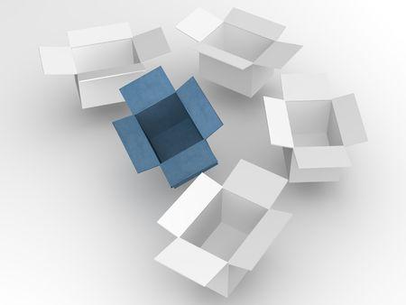 box. 3d photo