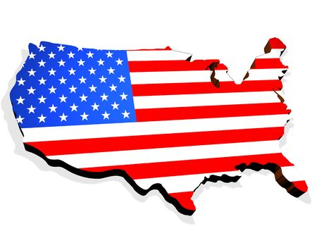 independency: Map the USA Stock Photo