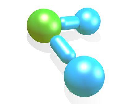 molecula de agua: Mol�cula de agua modelo
