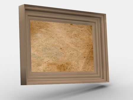 wooden colored frame  photo
