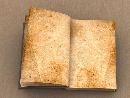 Vecchio libro aperto Archivio Fotografico