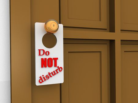 Do Not Disturb Sign Stock Photo - 911930