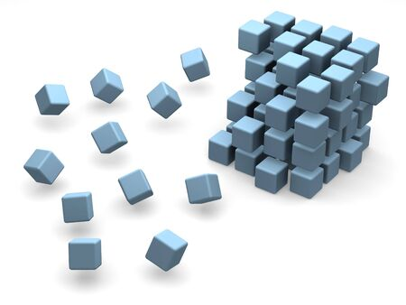 many blocks 3d Stock Photo - 912071