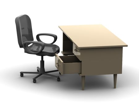 Chair and table 3d Stock Photo - 912101