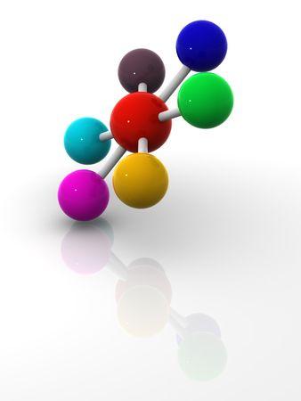 Organizaci�n con la diversidad. Cooperaci�n  Foto de archivo - 912257