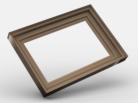 wooden colored frame  Stock Photo