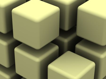 starting a business: many blocks. 3d Stock Photo