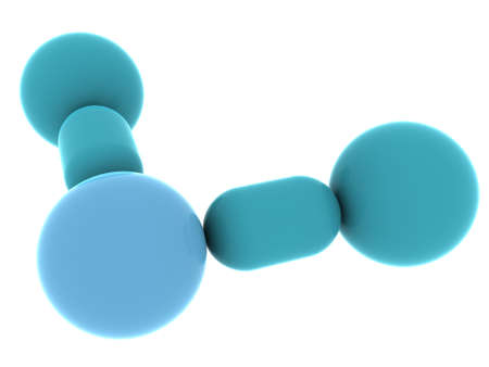 molecular structure. 3d photo