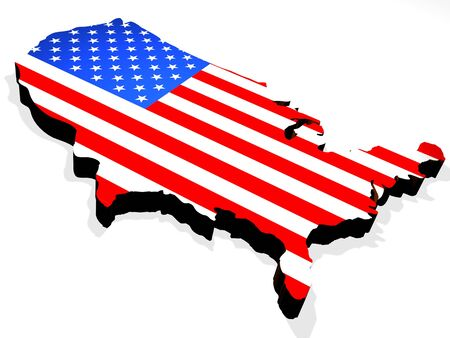 Map the USA Stock Photo