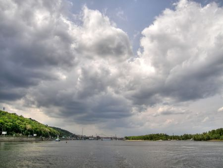 dnepr: The river Dnepr. Kiev. Ukraine. Stock Photo