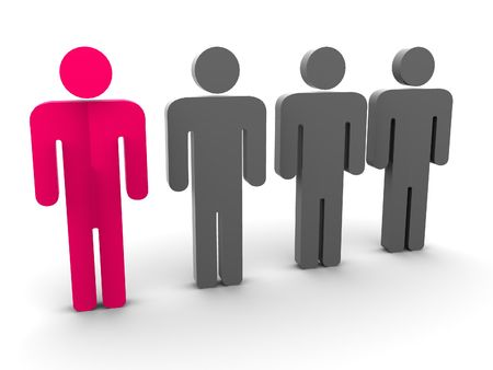 assertion: Silhouette of the person. 3d Stock Photo
