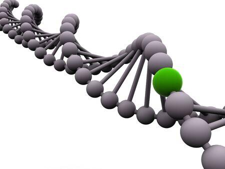 gene in DNA. 3d Foto de archivo