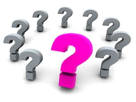 question. 3d Stock Photo - 1165011