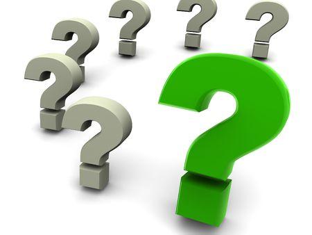 question. 3d Foto de archivo