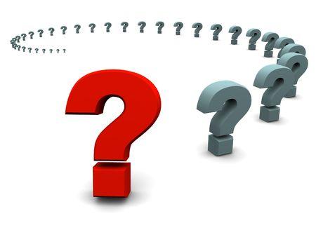 question. 3d Stock Photo