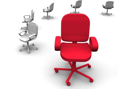 office chair. 3d Standard-Bild