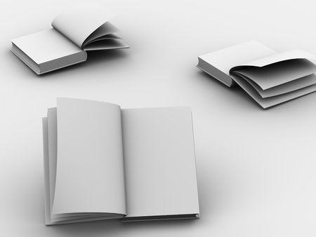Open book Standard-Bild