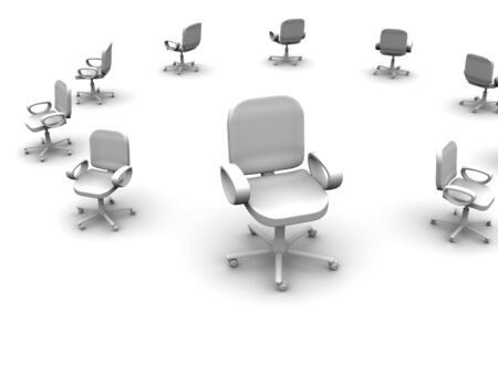 comfy: office chair. 3d Stock Photo