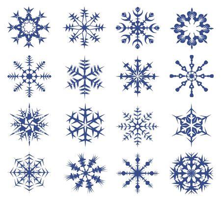 snowflakes on a white background.