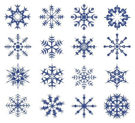 snowflakes on a white background.  photo