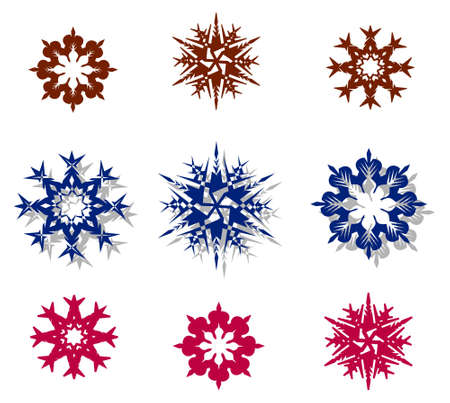snowflakes on a white background.  Stock Photo - 1349142