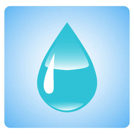 distilled water: Water drops. 3D illustration