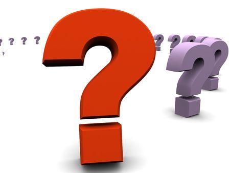 question. 3d Standard-Bild