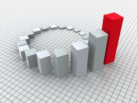population growth: 3d business statistics