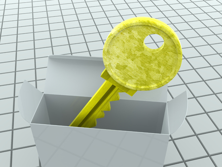 lockout: Key and box. 3d