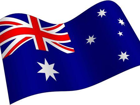 Australia. Bandiera Nazionale  Archivio Fotografico