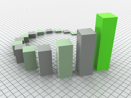 3d business statistics photo