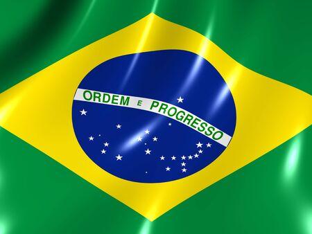 Brazil. National Flag Standard-Bild