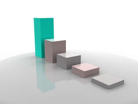 3d business statistics photo