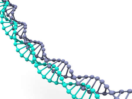 researchs: gene in DNA. 3d Stock Photo