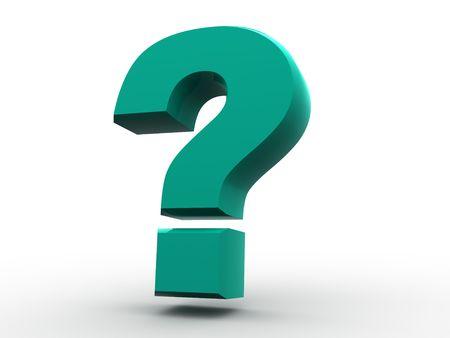 whose: Question Sign. 3d.