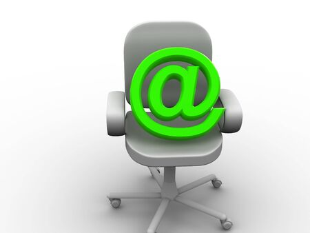 pneumatic: office chair. 3d Stock Photo