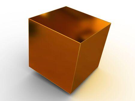 Simple figura geométrica. 3d Foto de archivo - 2600304