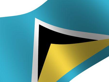 lucia: National Flag. Saint Lucia