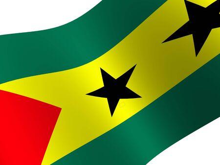 tome: National Flag. Sao Tome and Principe