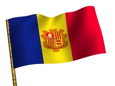 andorra: National Flag. Andorra