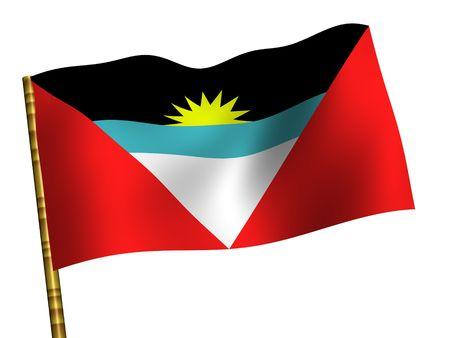 antigua: National Flag. Antigua and Barbuda