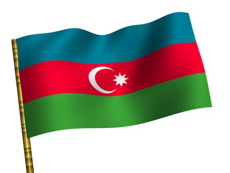 azerbaijan: National Flag. Azerbaijan Stock Photo