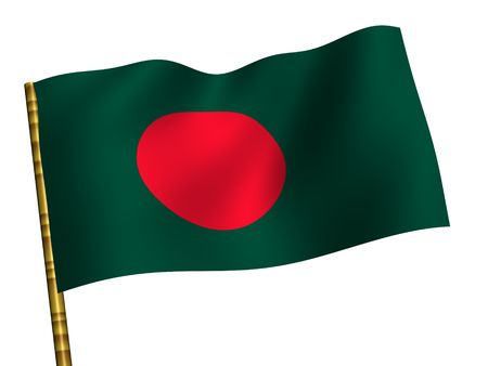 National Flag. Bangladesh Stock Photo - 3457005