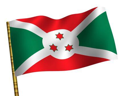 burundi: National Flag. Burundi Stock Photo