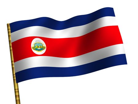 National Flag. Costa Rica